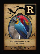 Ms. Harrimore's Prized Parakeets. - Custom Card