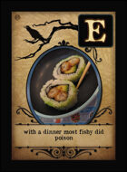 With A Dinner Most Fishy Did Poison - Custom Card