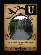 On A Stroll Through The Park When - Custom Card