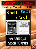 Grunt 3rd Edition Spell Cards Set #1