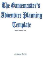 GameMaster's Adventure Planning Template