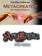 Metacreator & Ars Magica 5th Edition