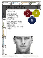 Tom Brady - Custom Card