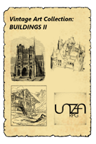 Vintage Art Collection: Buildings II