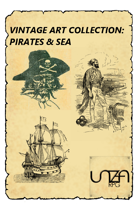 Vintage Art Collection: Pirates & Sea