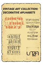 Vintage Art Collection: Decorative Alphabets