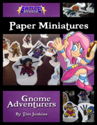 Battle! Studio Paper Miniatures: Gnome Adventurers