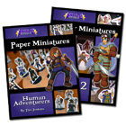 Battle! Studio Paper Miniatures: Human Adventurers Pack [BUNDLE]