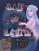 Battlebird Paper Miniatures: Fey