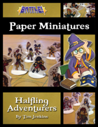 Battle! Studio Paper Miniatures: Halfling Adventurers