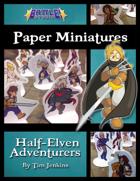 Battle! Studio Paper Miniatures: Half-Elven Adventurers