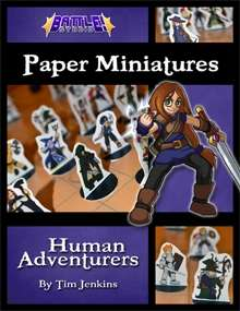 Battle! Studio Paper Miniatures: Human Adventurers