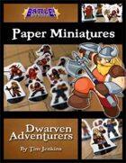 Battle! Studio Paper Miniatures: Dwarven Adventurers