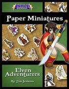 Battle! Studio Paper Miniatures: Elven Adventurers