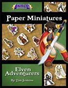 Battle! Studio Paper Miniatures: Elven Adventurers