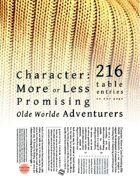Character: More or Less Promising Olde Worlde Adventurers