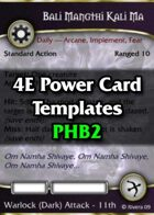 Tintagel's 4E Power Card Templates: PHB 2 Expansion