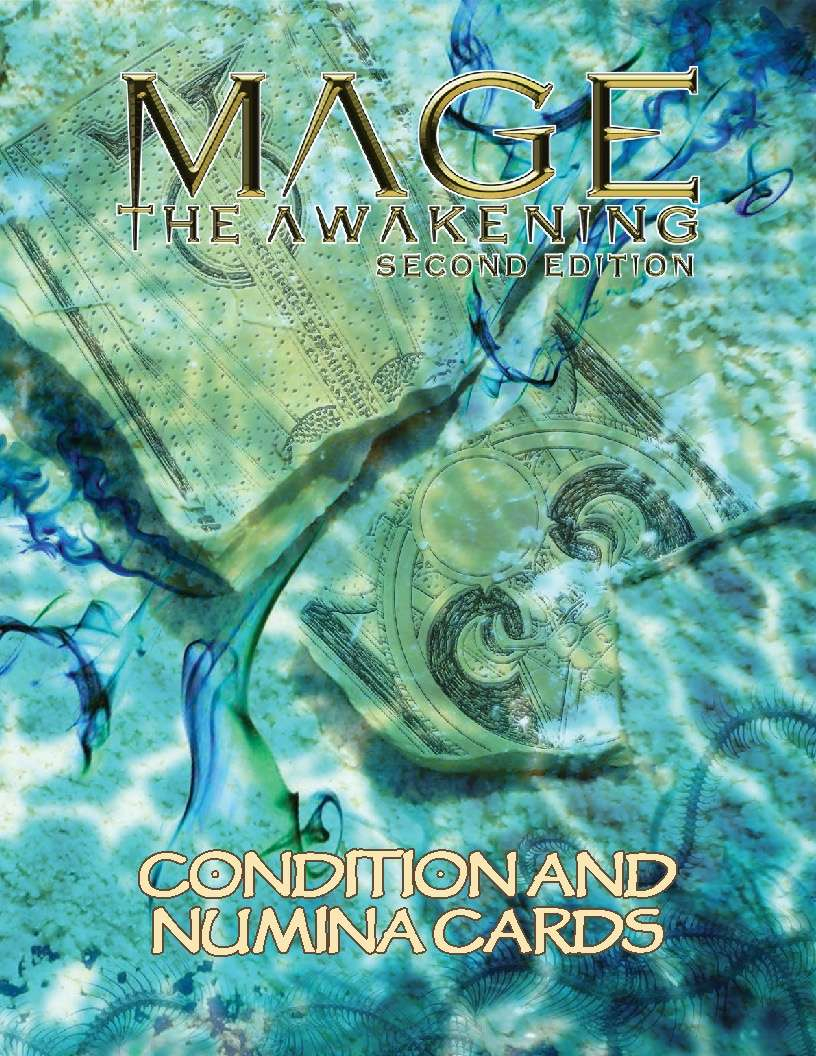 Mage: the Awakening 2nd Edition Condition and Numina Cards
