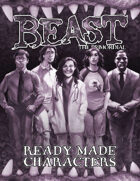 Ready-Made Characters (Beast: the Primordial)