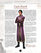 Adversaries of the Righteous: Cynis Borok and Regara Feria