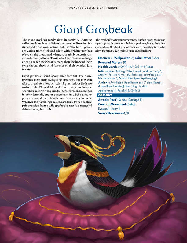 Hundred Devils Night Parade: Bloodworm and Giant Grosbeak ...