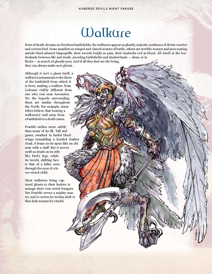 Hundred Devils Night Parade: Aurochs and Walkure - Onyx Path Publishing |  Exalted 3rd Edition | Storytellers Vault