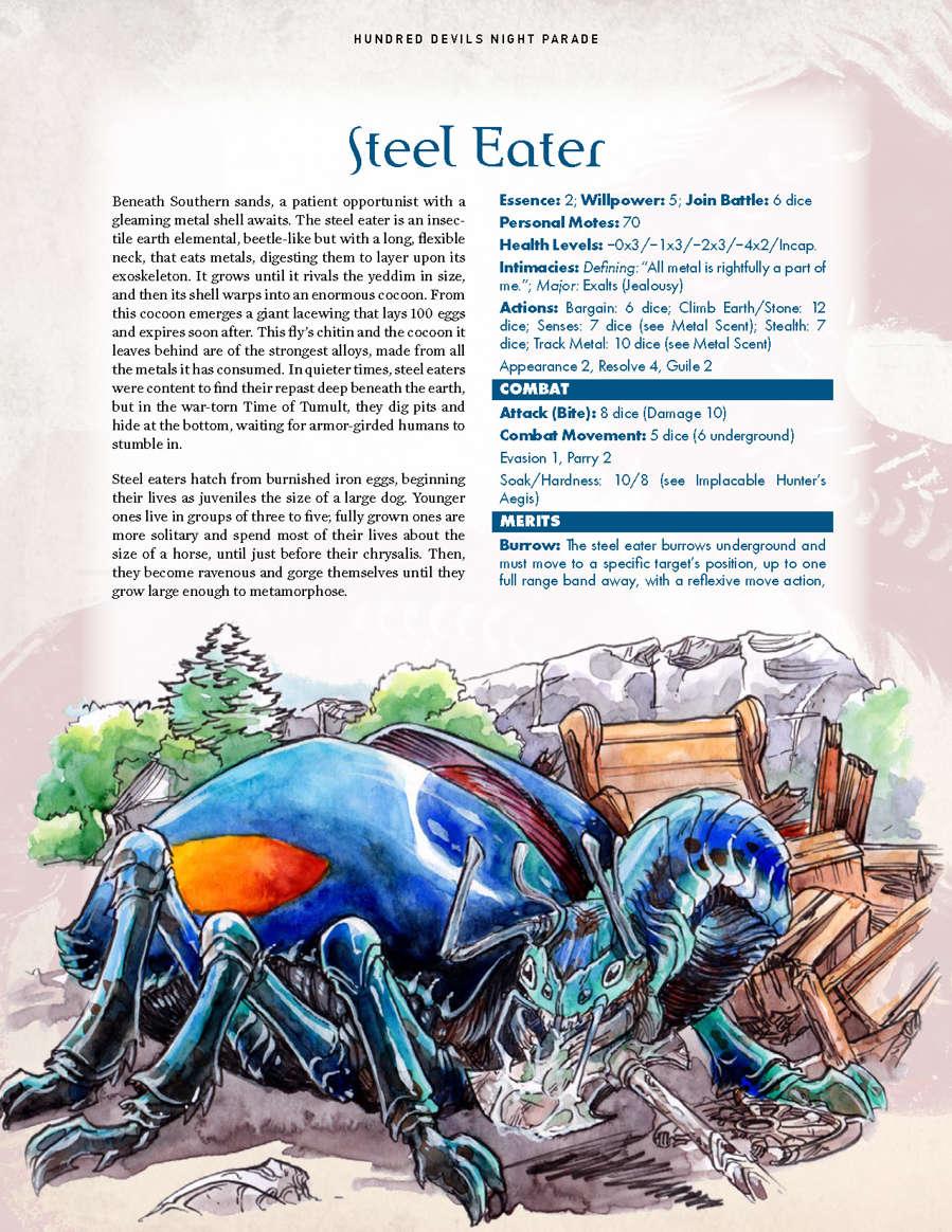 Hundred Devils Night Parade: Gem Seeker and Steel Eater - Onyx Path  Publishing   Exalted 3rd Edition   DriveThruRPG com