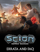 Scion Second Edition Errata and FAQ