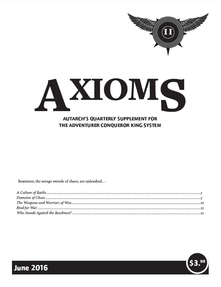 Axioms Issue 2 Autarch Drivethrurpg Com