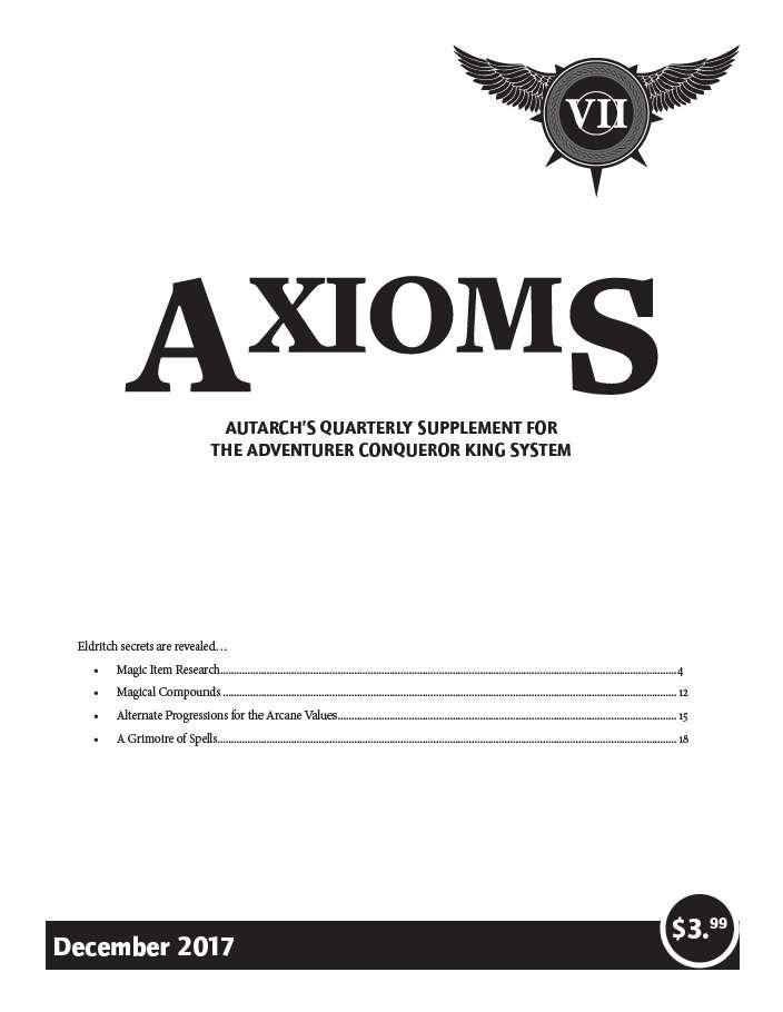 Axioms Issue 7 Autarch Drivethrurpg Com