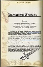 Mechanized Weapons