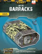Barracks Cardboard Model