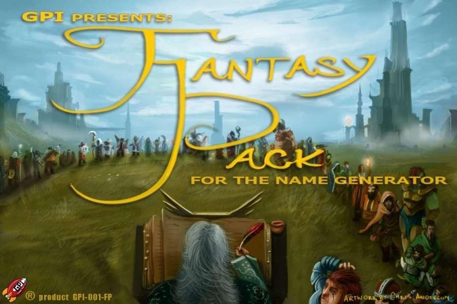 The Fantasy Pack for the Name Generator - Gunny Pubs Inc  | DriveThruRPG com