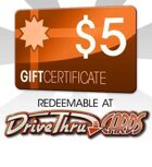 DriveThruCards $5 Gift Certificate/Account Deposit