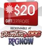 $20 Gift Certificate/Account Deposit