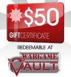 WargameVault $50 Gift Certificate/Account Deposit