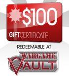 WargameVault $100 Gift Certificate/Account Deposit