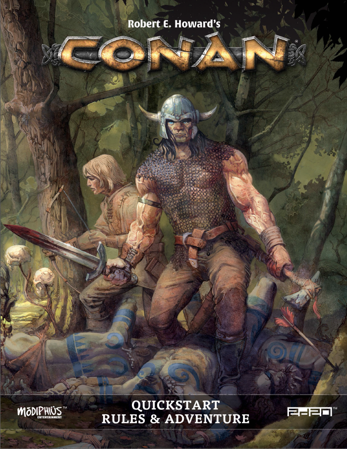 Robert e howards conan roleplaying game quickstart modiphius quick preview fandeluxe Images
