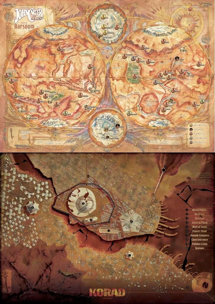 John Carter of Mars RPG Ruins of Korad Tile Set ADD/'L ITEMS SHIP FREE