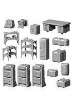 Fallout: Wasteland Warfare - Terrain Expansion: Vault Tec Office Bundle STL
