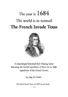 The French Invade Texas RPG