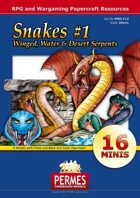 Fantasy and Sci-Fi Creatures:  Snakes Set #1