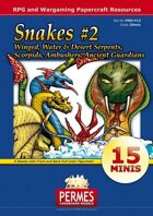 Fantasy and Sci-Fi Creatures:  Snakes Set #2