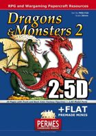 Dragons & Monsters Set 2 - 2x2.5D Dragon