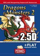 Dragons & Monsters Set 2 - 2x2.5D Dragon