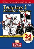 Medieval Knights - Templars Set 3 - Mounted Knights