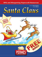 Santa Claus and Reindeer Chariot