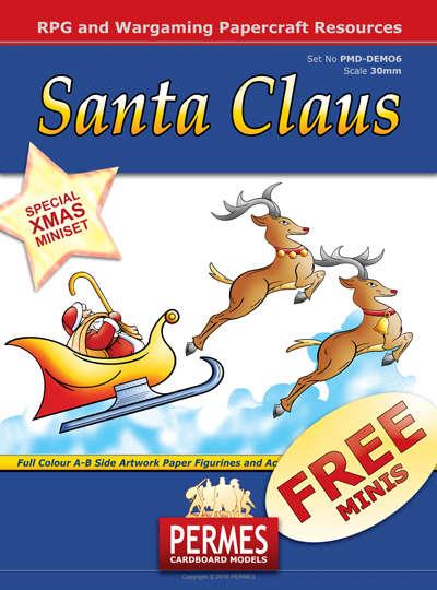 Santa Claus And Reindeer Chariot