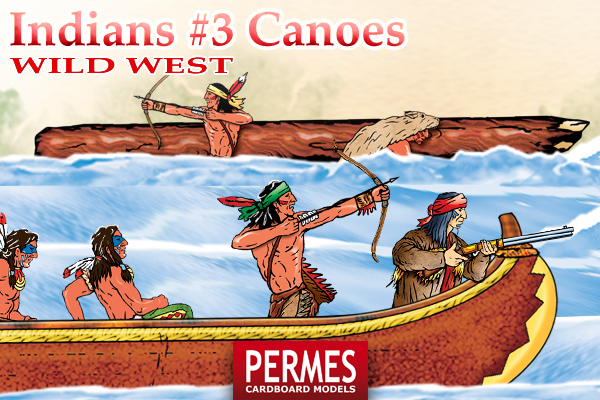 Indians #3 Canoes - Wild West Series by PERMES - preview 3