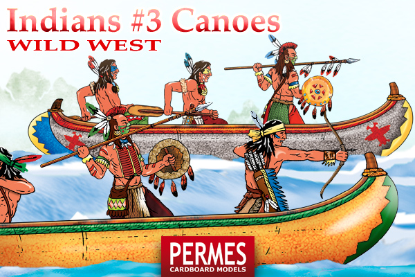 Indians #3 Canoes - Wild West Series by PERMES - preview 4
